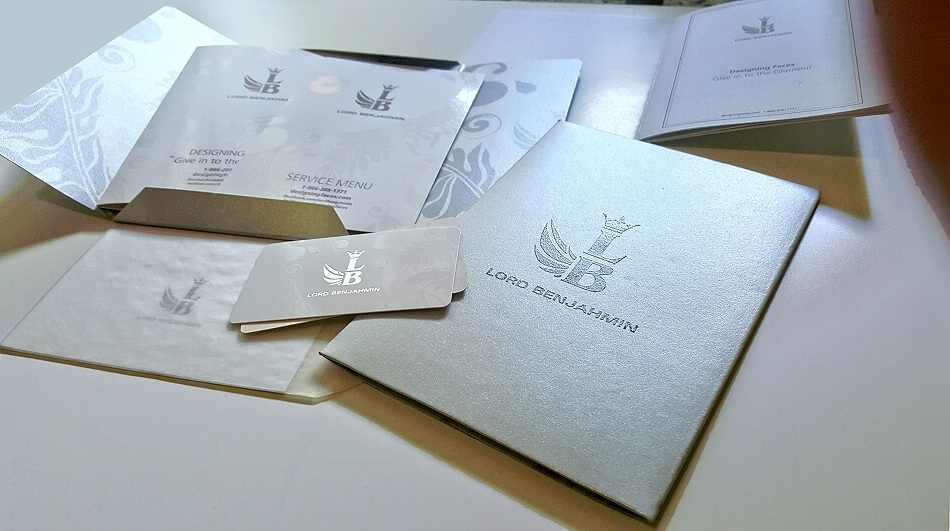 BRANDING: A luxury marketing package that included logo design, printing, die-cut and specialty paper and printing.  Included copywriting and editing for a mini brand booklet